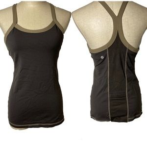 Lululemon racerback  brown Tank